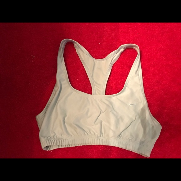 Large Light blue Nike dry fit sports bra